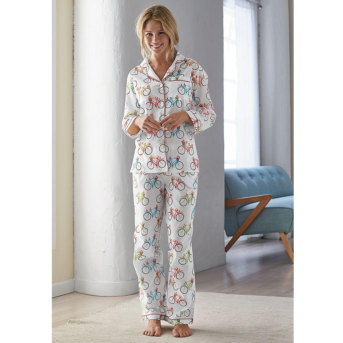 aa82a2298 Joy Ride Summer Woven Cotton Women s Pajama Set