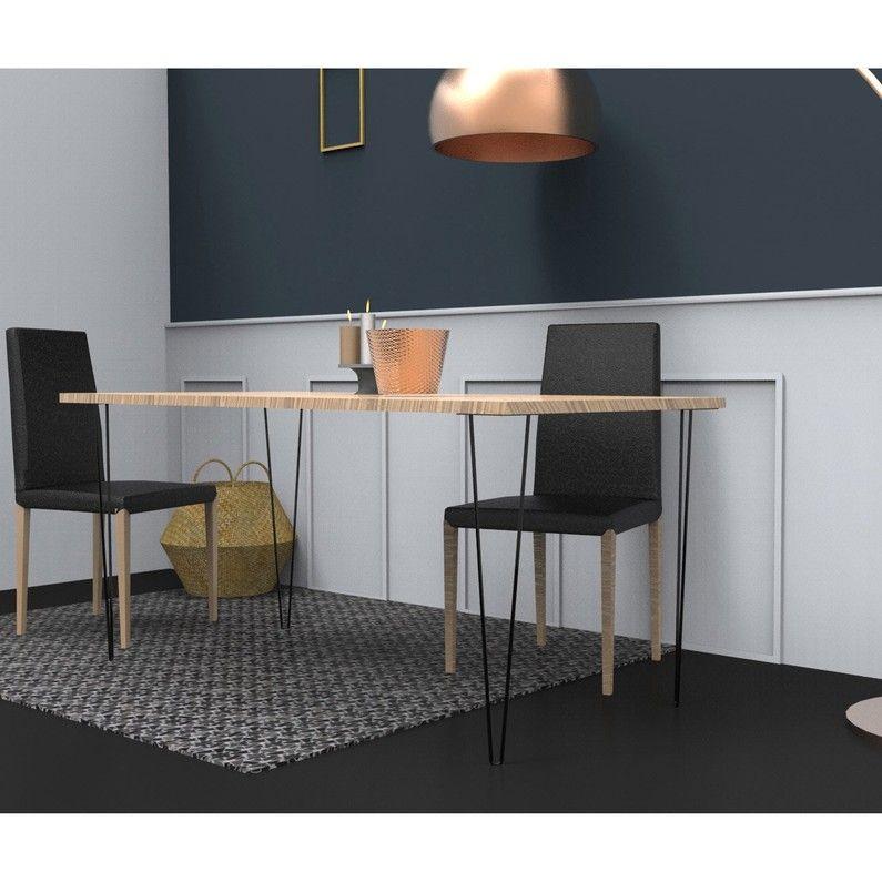 Pied De Table Design Fixe Acier époxy Noir 71 Cm Home Home