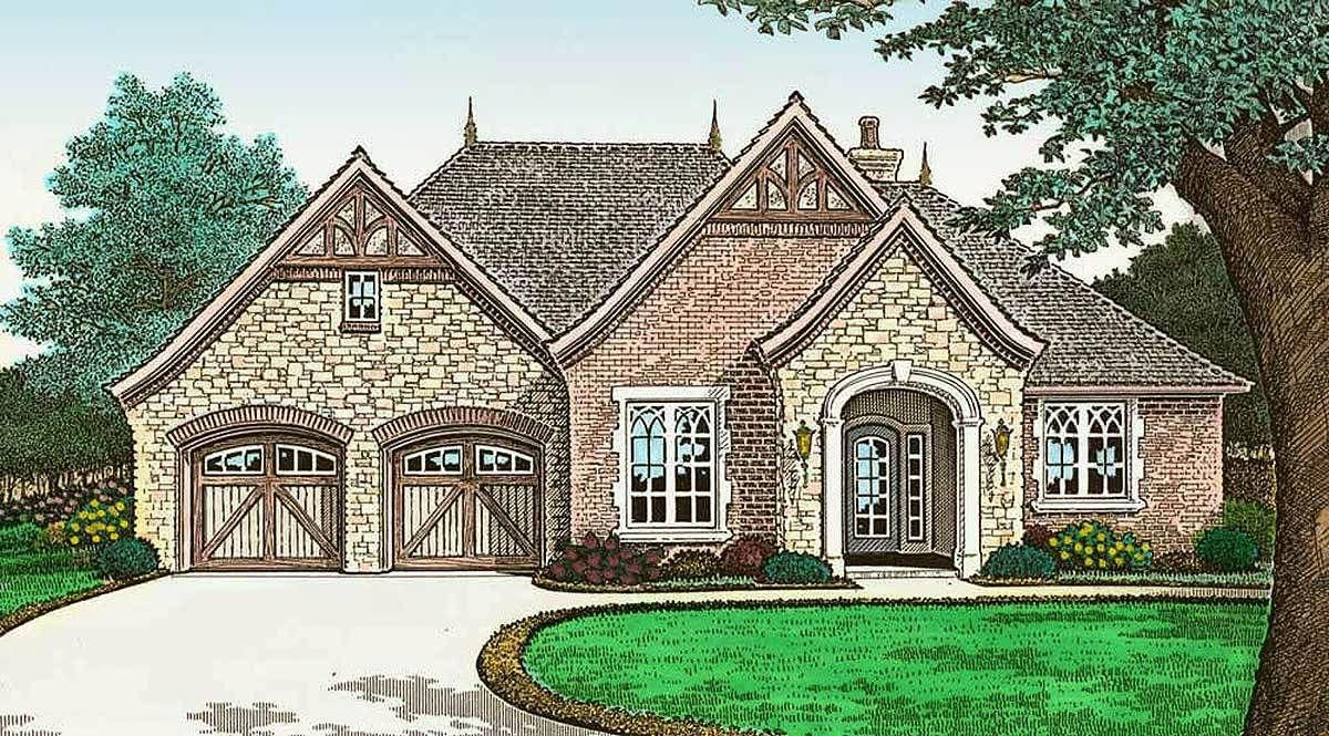French Country Cottage With Outdoor Living 48532fm 1st Floor Master Suite Butler Walk In French Country Cottage Country Cottage Decor French Country House