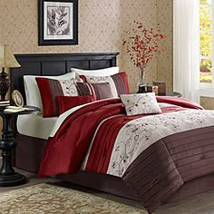 Chocolate And Red Bedroom Google Search