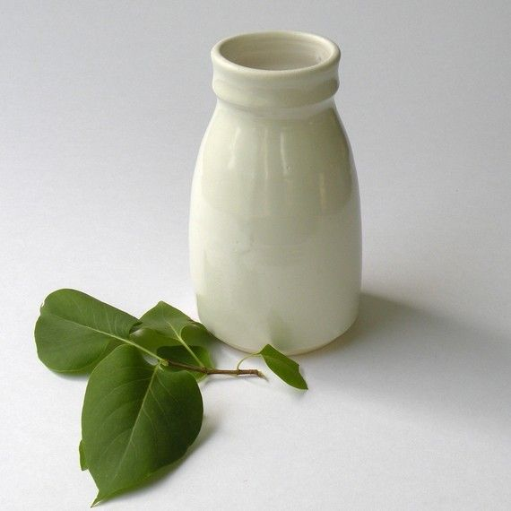White Milk Ceramic Bottles