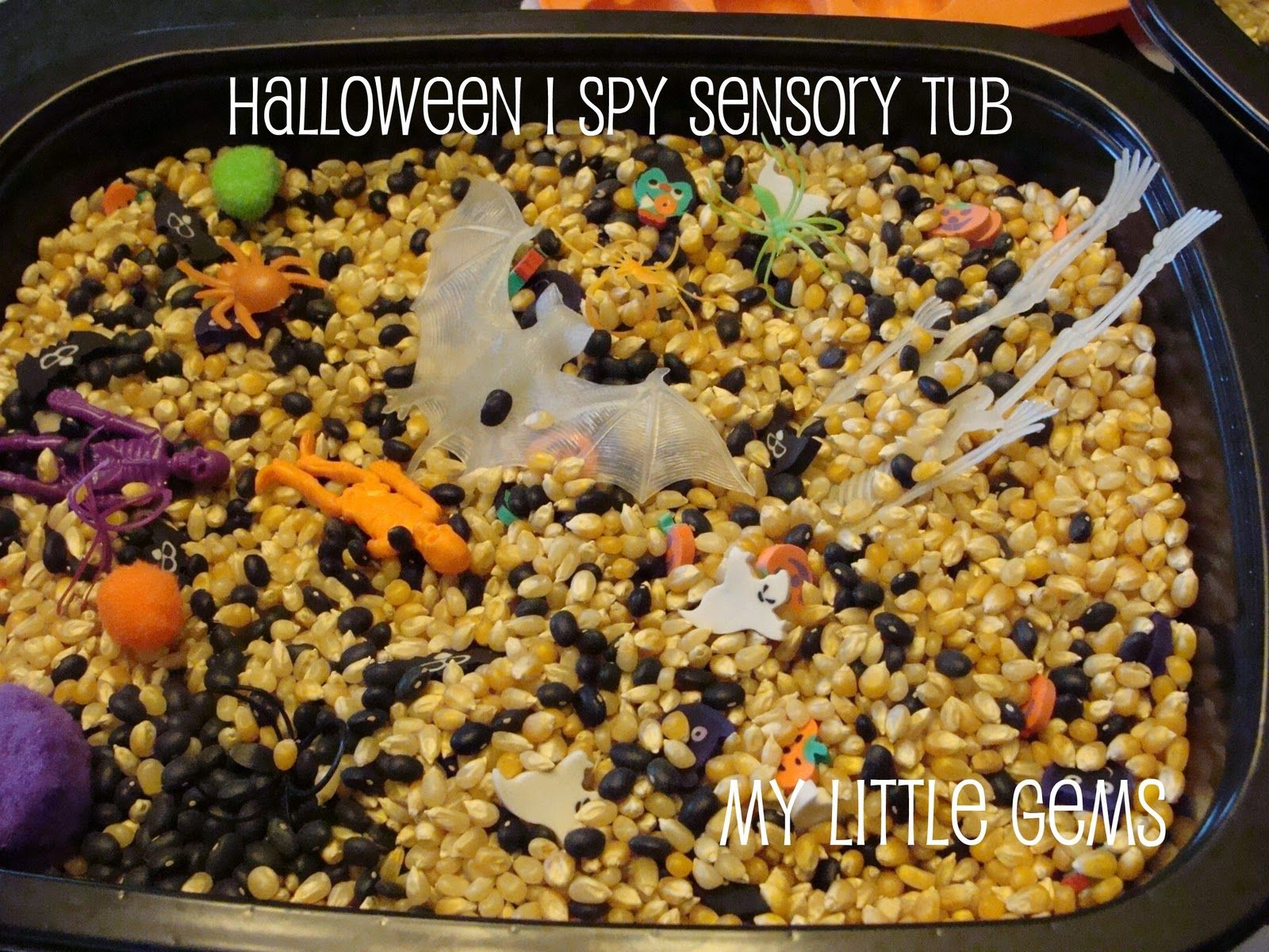 My Little Gems: Halloween I SPY Search-n-Find Tub