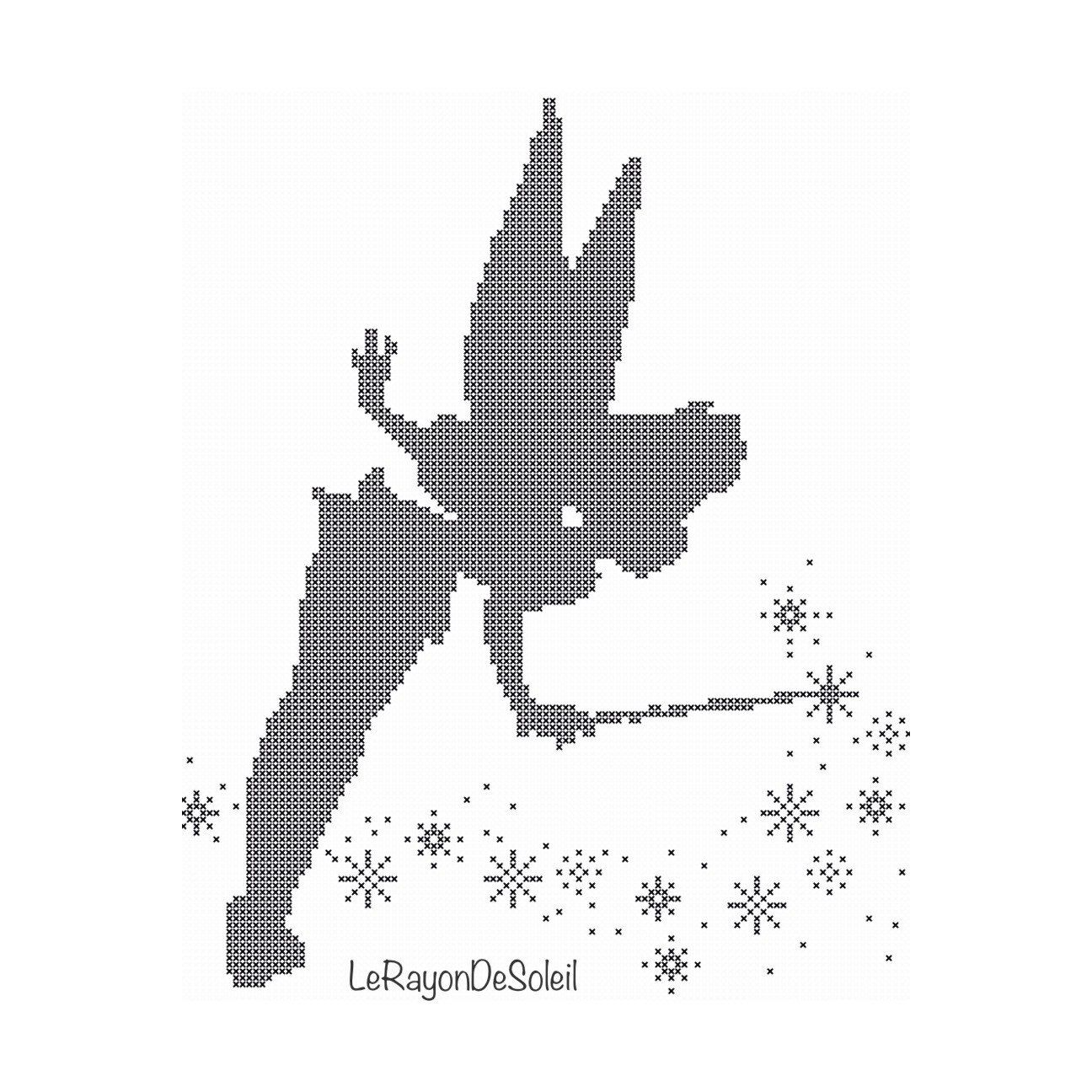 Cross stitch pattern Tinker Bell - Peter Pan Disney - black ...