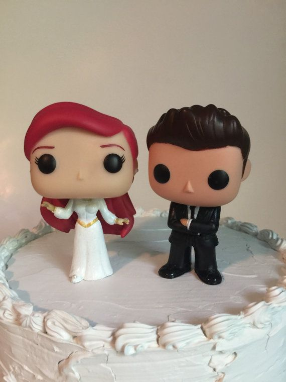 Everafterproducts On Etsy Ariel And Groom Funko Pop Wedding Cake