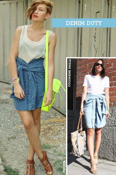 button down shirt turns into skirt