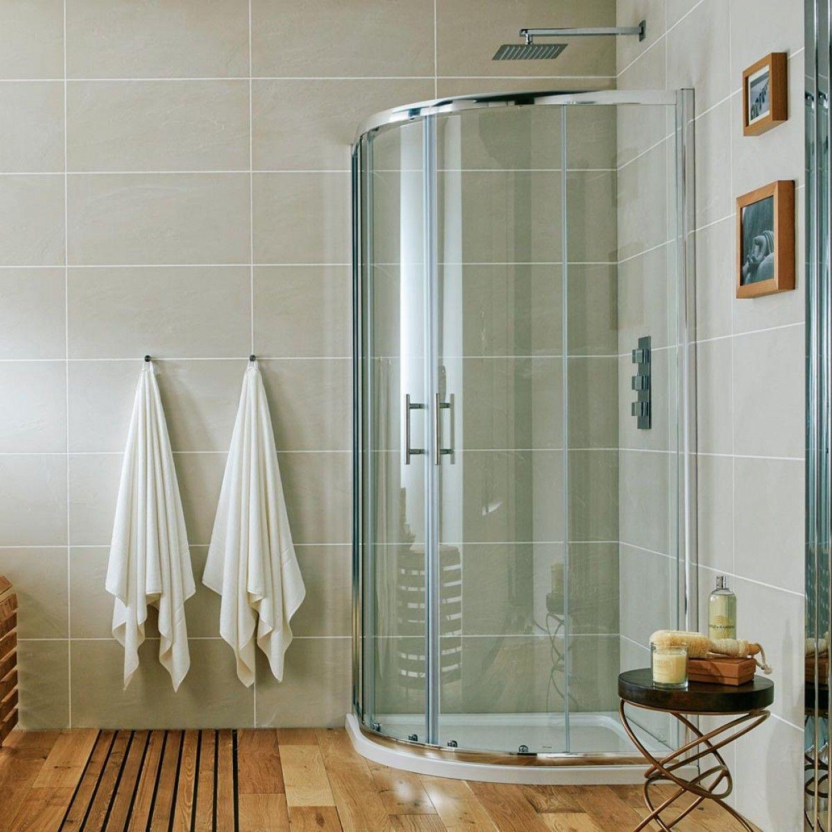 Offset Quadrant Shower Enclosure 2 Door Walk In Corner Cubicle 6mm Glass