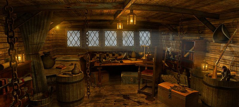 CGTalk - Ship Cabin | Pirate room, Pirates of the caribbean, Pirate ship