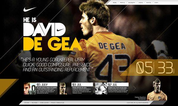 Nike Football - David De Gea Concept by Daniel Ng, via Behance