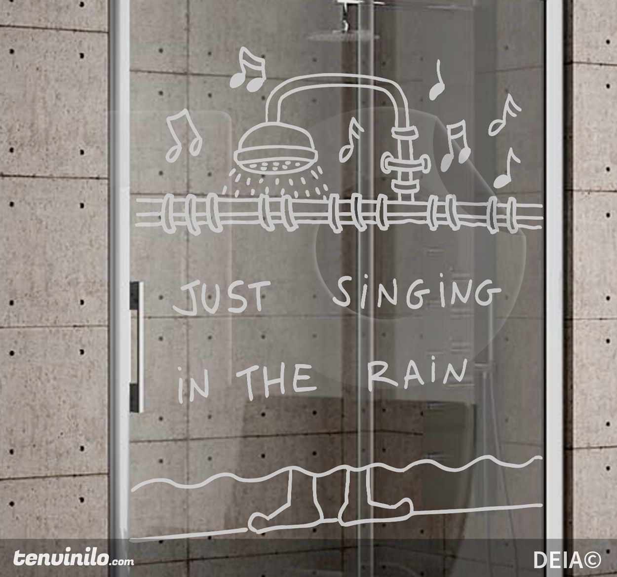 just singing in the rain | Paredes | Pinterest | Vinilos, Baños y Baño