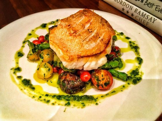 Red snapper and salsa verde fine dining recipes food for Fine dining gourmet recipes