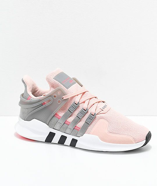 pretty nice 628ff 0daba adidas EQT Support ADV Pink  Grey Shoes