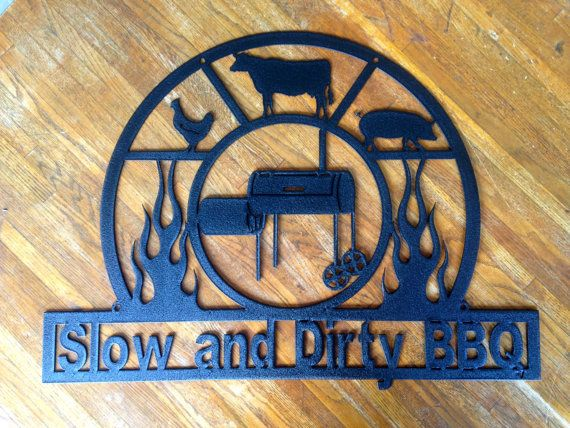 BBQ Sign Metal Pitmaster Man Cave Grilling Sign