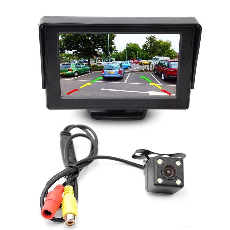 4.3 Miroir Ecran Moniteur R/étroviseur Rearview Mini Cam/éra de Recul Voiture Auto Syst/ème de Stationnement