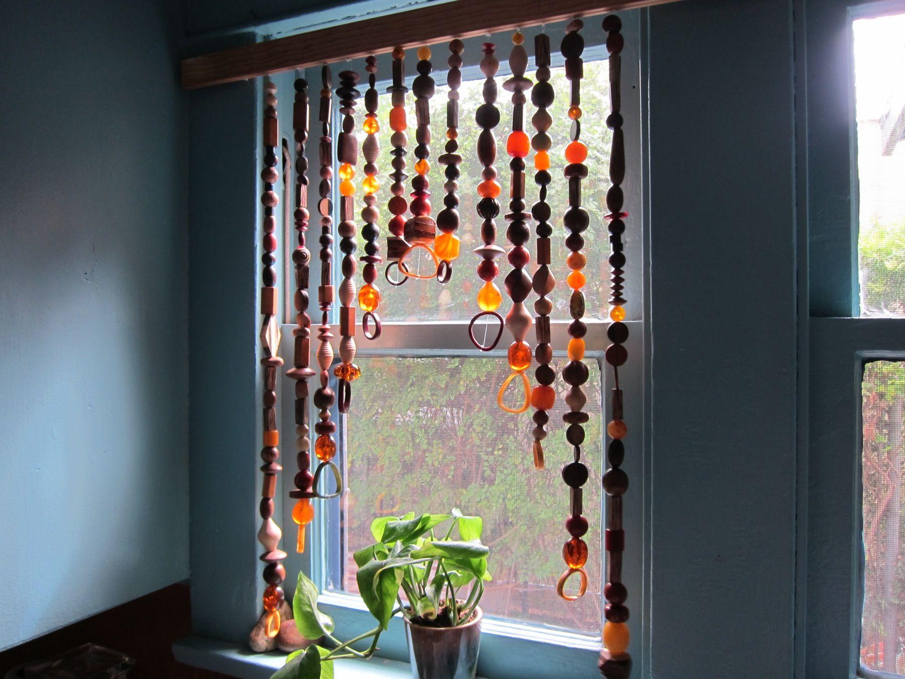 How to make a bead curtain cortinas cortinas originales - Cortinas de cuentas ...