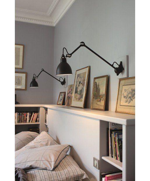 de jolies gravures un bel clairage t te de lit am nag e. Black Bedroom Furniture Sets. Home Design Ideas