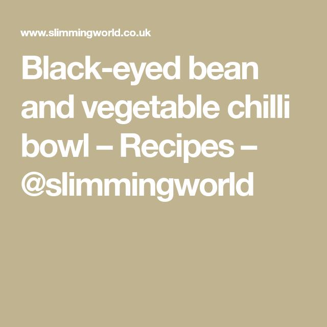 Black-eyed bean and vegetable chilli bowl – Recipes – @slimmingworld