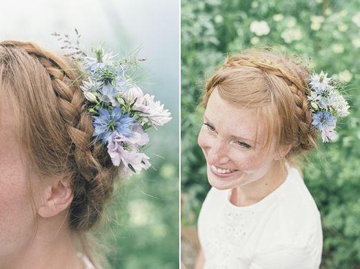 Delicate and romantic seasonal wedding hair flowers beautiful
