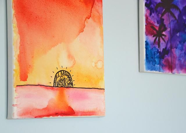 DIY: Watercolor Wall Art | Watercolor walls, Watercolor and Artist