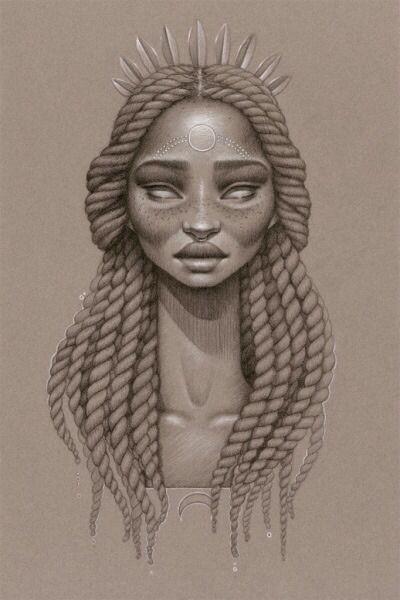 'Moondust' illustrations by Sara Golish