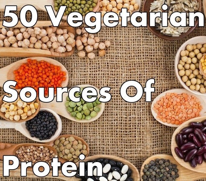50 great sources of protein for #vegetarians #meatlessmonday
