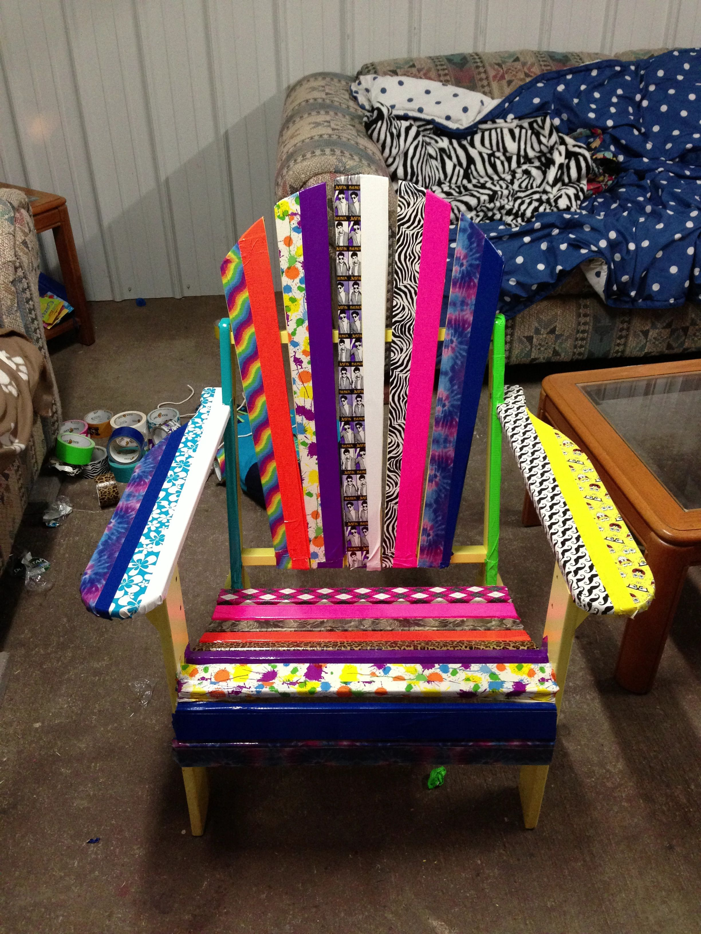 Quick and easy duck tape chair my new invention and many ...