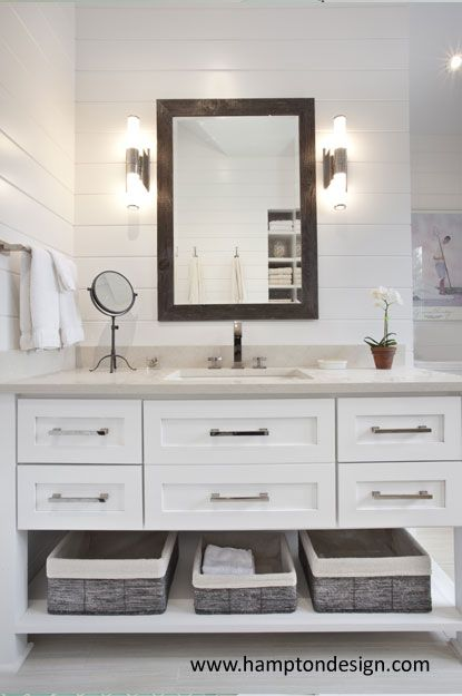 Grabill Custom Painted Vanity Caesarstone Haze Countertop Bathrooms Pinterest Painted