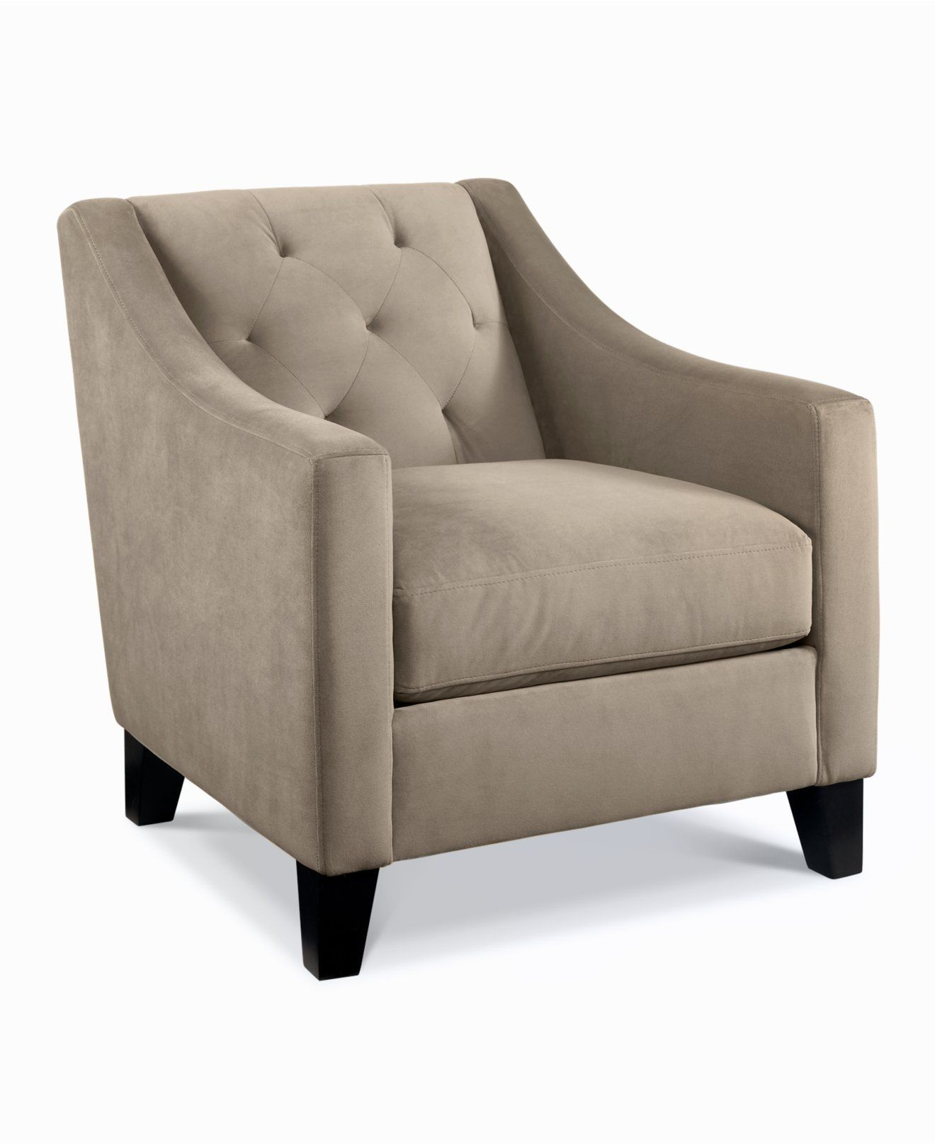 chloe velvet tufted chair - living room furniture - furniture