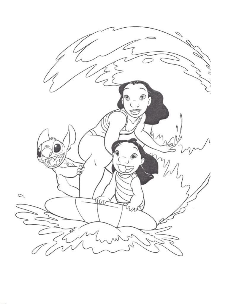 Free Printable Lilo And Stitch Coloring Pages For Kids Lilo And Stitch Drawings Stitch Coloring Pages Stitch Drawing