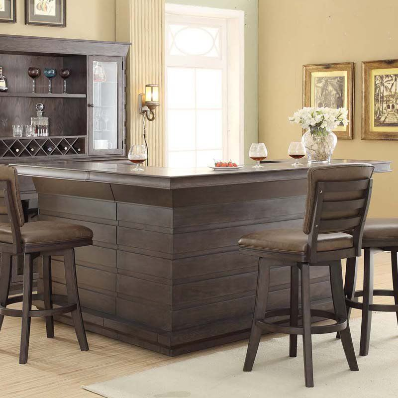 East Coast Innovations Toscana Distressed Birch Home Bar   ECI418 1