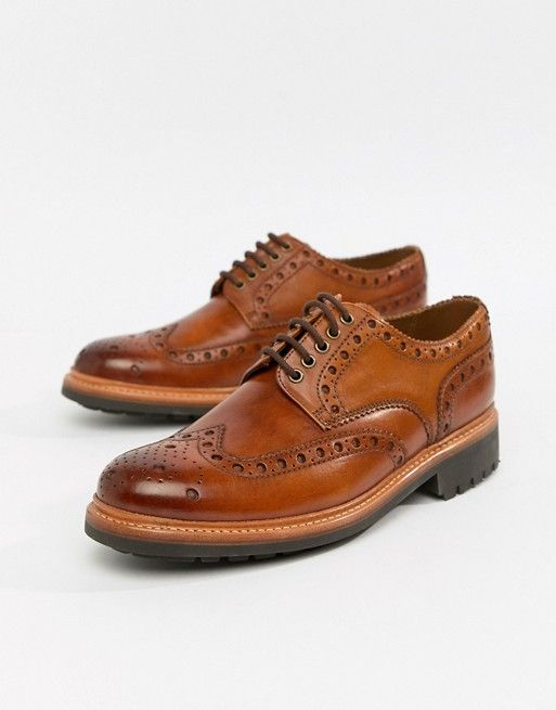 new arrive cute order Grenson Archie chunky brogue shoes in tan in 2019 | Grenson ...