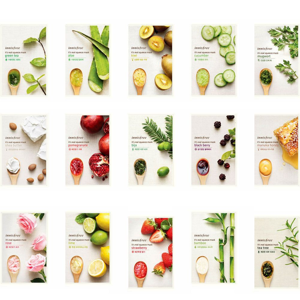 Details About Innisfree My Real Squeeze Mask 20ml Face Mask Sheet