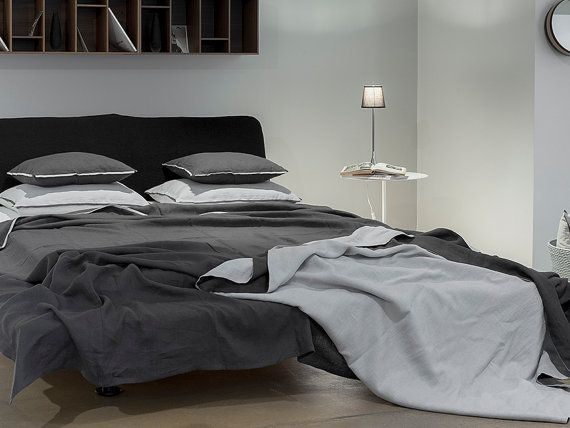 Linen Bedspread Double Sided Coverlet Or Light Weight Blanket Queen