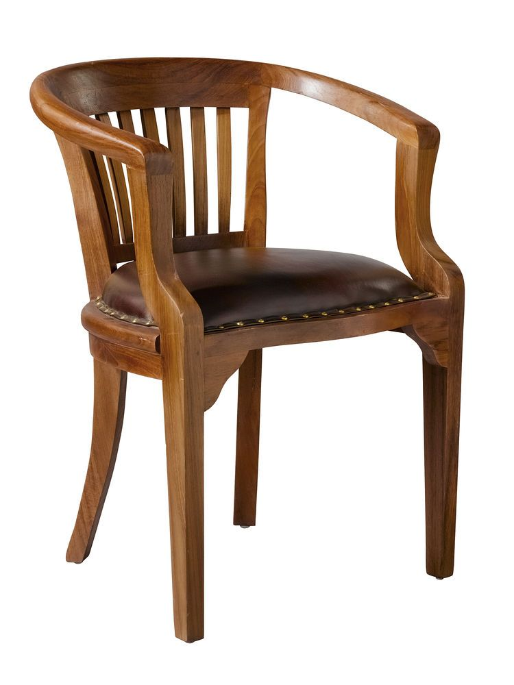 Fauteuil Ancien Avec Accoudoir Idees Deco Interieur Assisse Chaise Fauteuil Accoudoirs Bois Teck Wooden Chair Single Chair Interior Design Bedroom