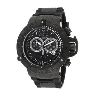 Invicta Men's 11843 Subaqua Noma III Chronograph Black Dial Black Silicone Watch. Price: $251.89