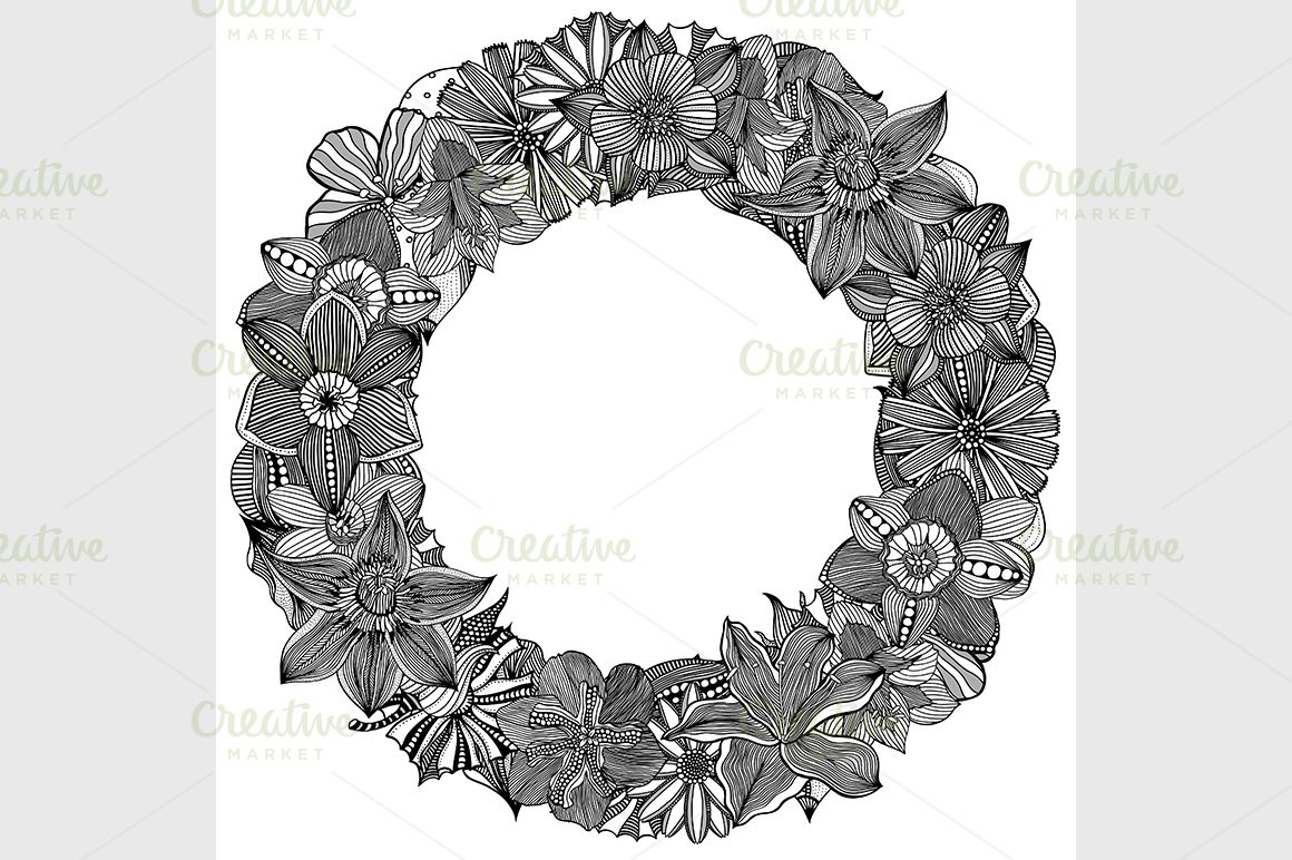 Circle flower ornament flower ornaments circles and ornaments