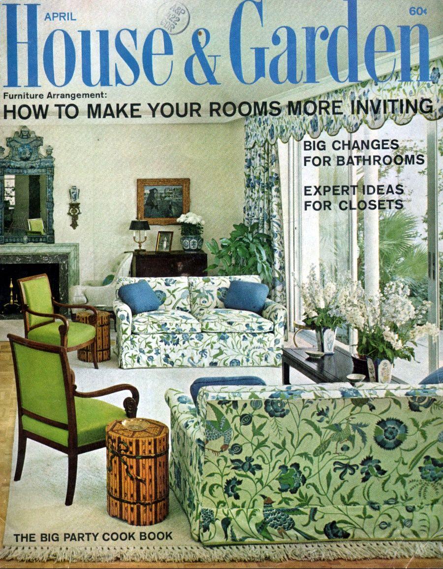 House & Garden - April, 1966 | 1960\'s Magazine Covers (Miscellaneous ...