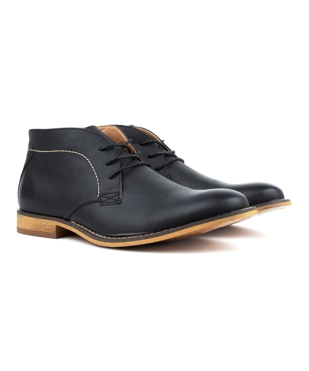 406e4c1b9011 Black Contrast-Stitch Chukka Boot