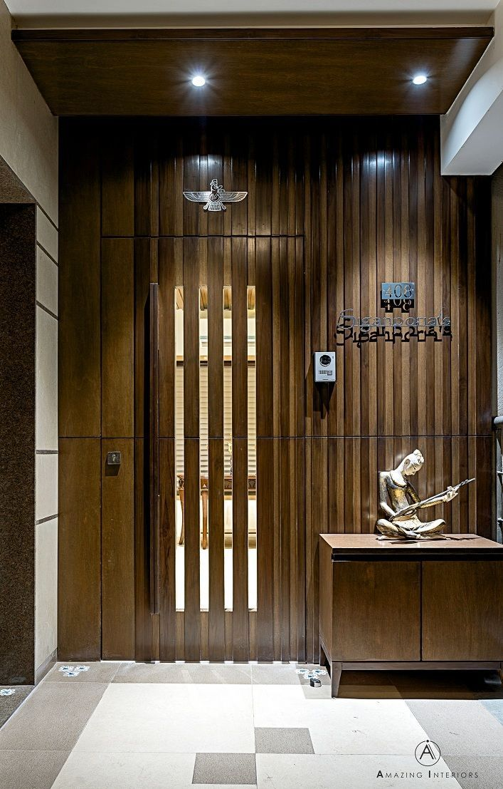 Wood  glass slat door designs office doors doordesigns officedoors ironageoffice also  wooden with  february at pm interior rh pinterest