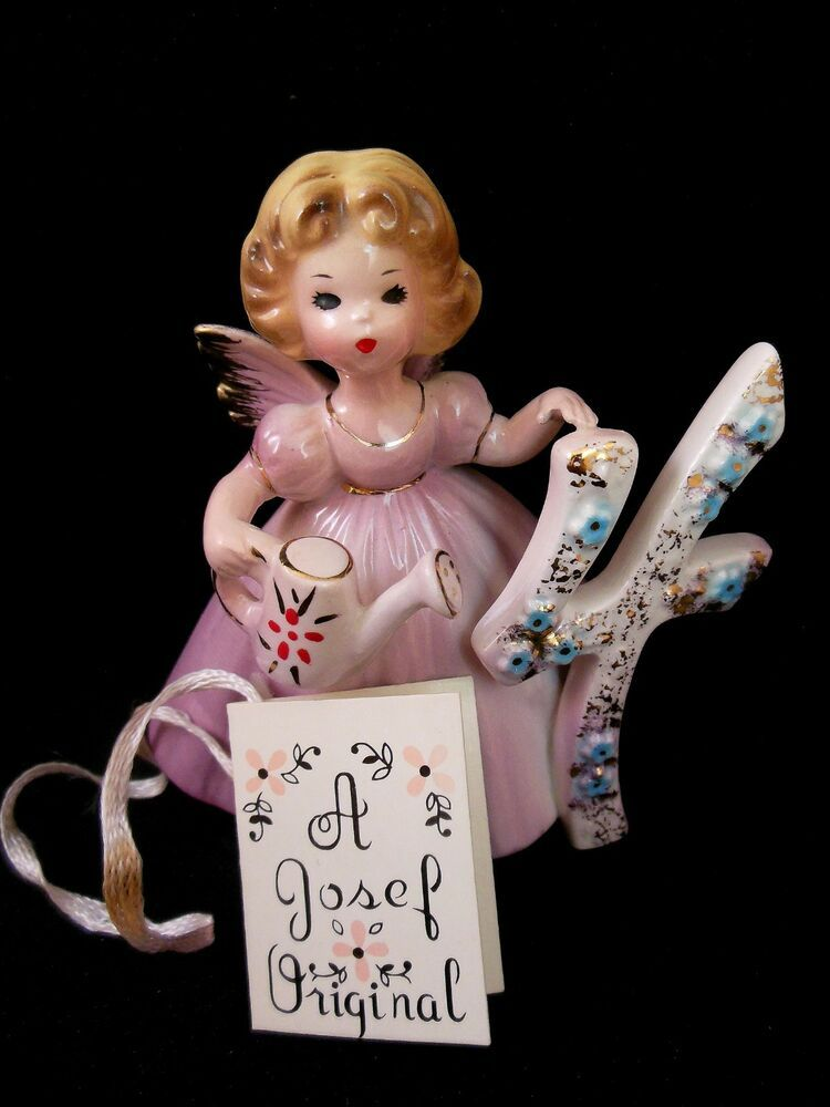 Josef Originals Birthday Angel Girl number 4 4th Year