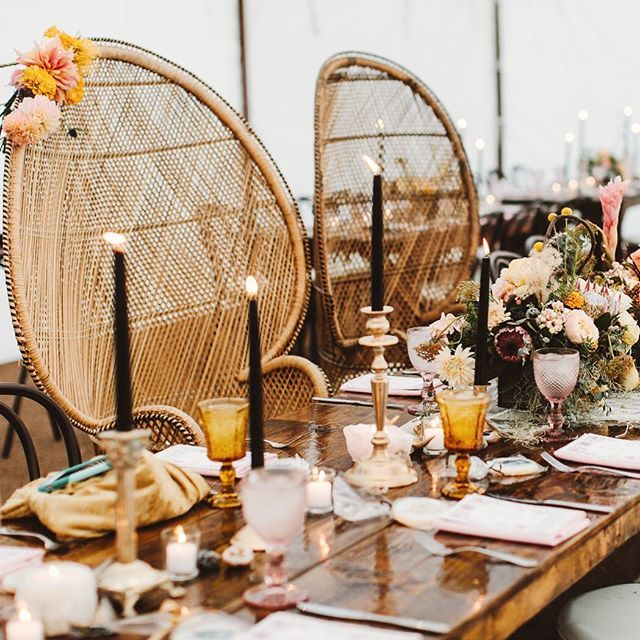 Bohemian Wedding Reception: Our Peacock Chairs Make The Perfect Sweet Heart Chairs