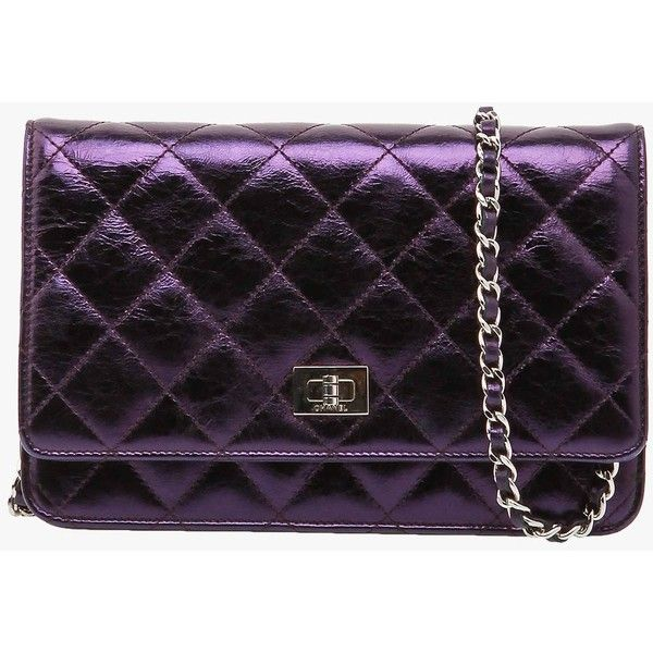 7b3101befdb4 Pre-owned Chanel Metallic Purple Reissue WOC Wallet Chain Purse Bag  ( 1