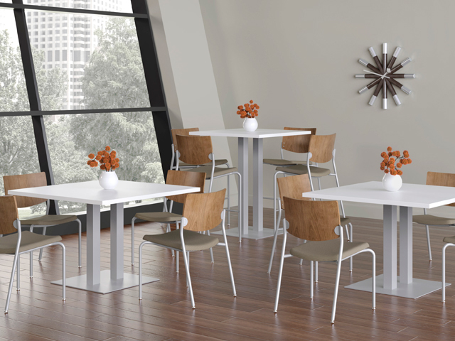 Cafe Bistro Tables Can Turn An Ordinary Lunchroom In To An