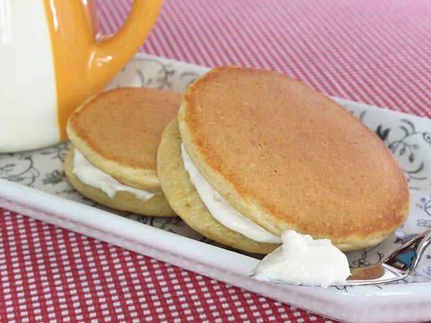 Maple cream cheese pancakes