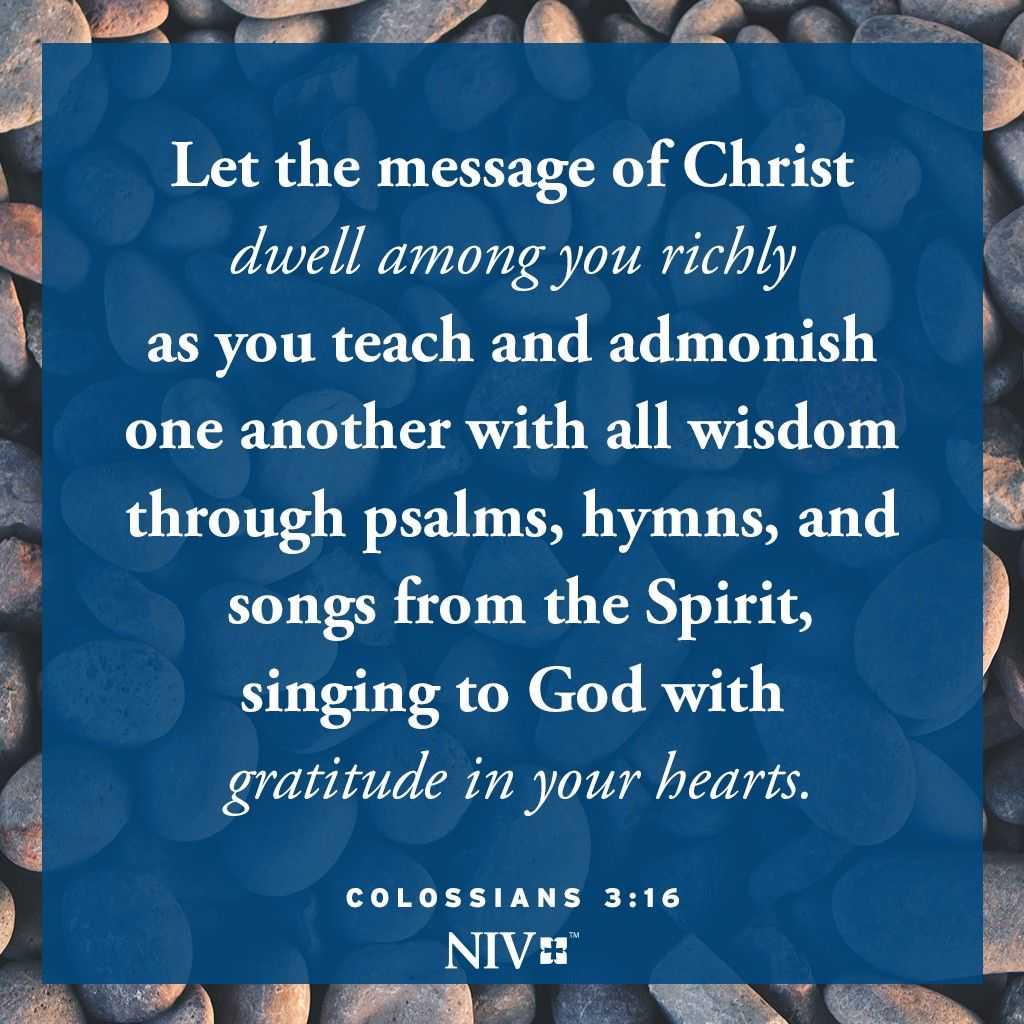 Niv Verse Of The Day Colossians 3 16 Bible Encouragement