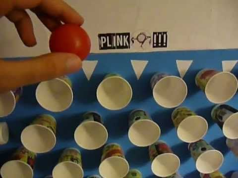 Homemade plinko foam board with dixie cups and a ping pong ball homemade plinko foam board with dixie cups and a ping pong ball put numbers solutioingenieria Choice Image