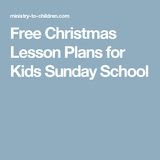 Free Christmas Lesson Plans for Kids Sunday School | Joy