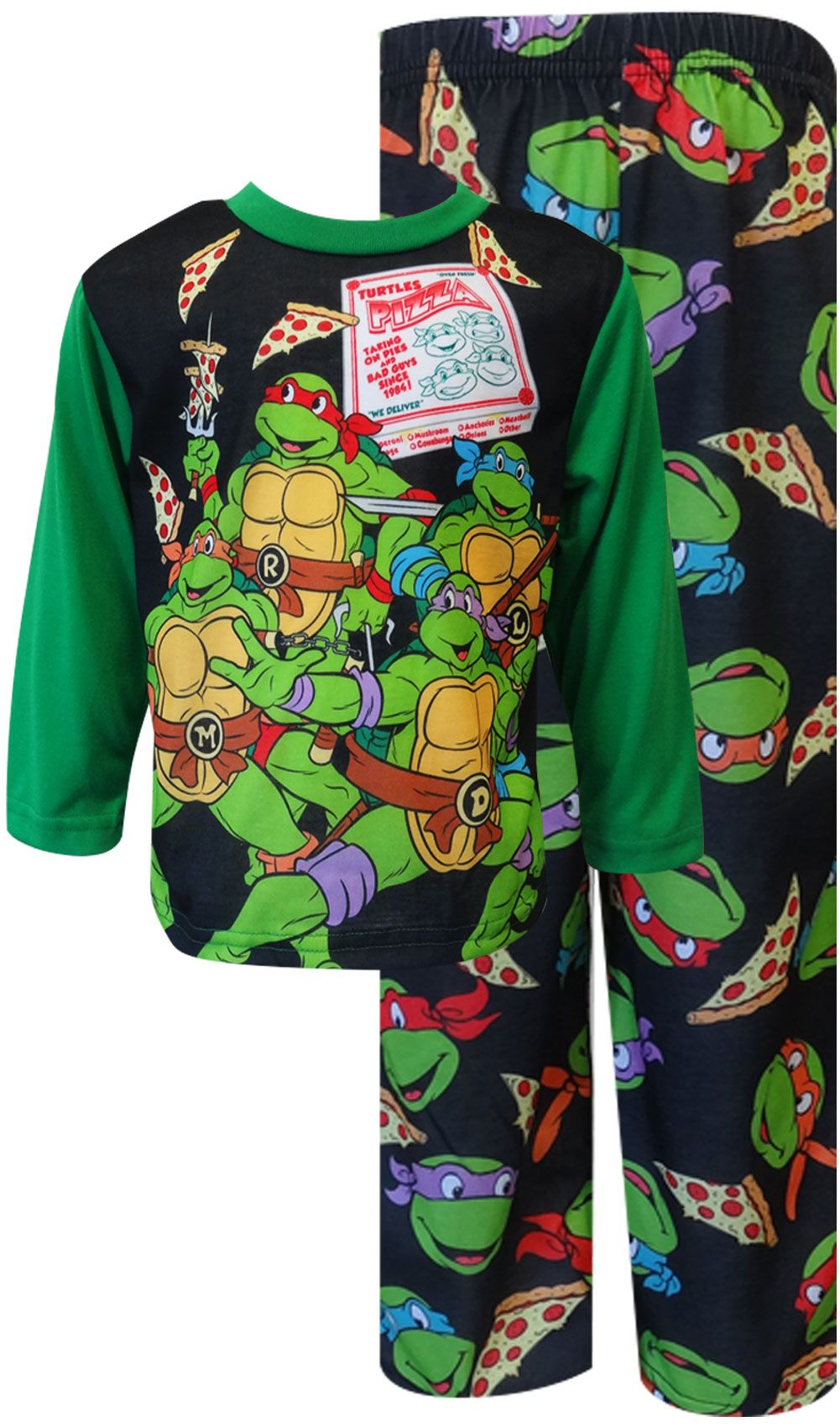 Teenage Mutant Ninja Turtle Pizza Party Toddler Pajama Set