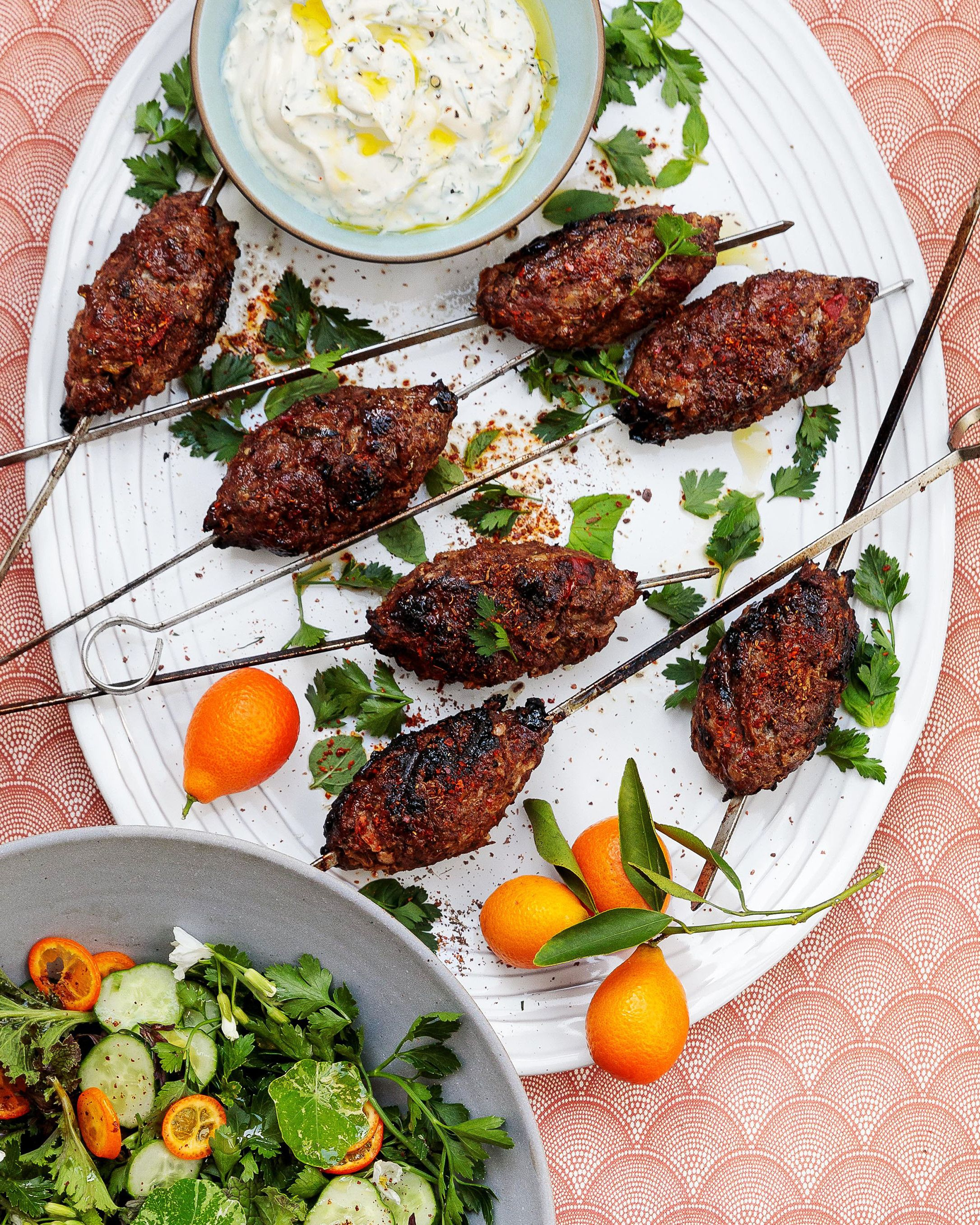 Lamb Kebabs With Herbed Yogurt Recipe Recipe Lamb Kebabs Lamb Recipes Appetizer Recipes
