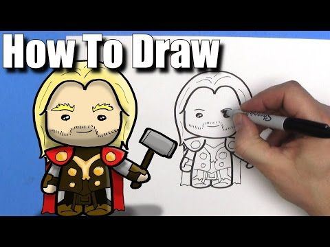 How To Draw Cute Chibi Thor Chibi Easy Kawaii Cartoon Drawing Tutorial For Kids Youtube With Images Drawing Tutorials For Kids Cartoon Drawing Tutorial Cartoon Drawings