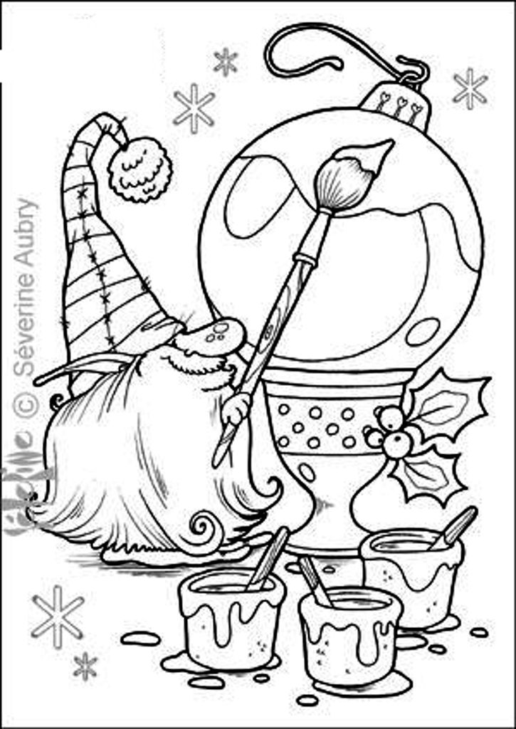 christmas elf ornament Christmas coloring pages